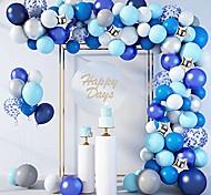 economico -144 pezzi palloncini blu kit arco ghirlanda 12''10''5 '' coriandoli blu royal bianchi coriandoli stella perlescente argento palloncini metallici per compleanno baby shower decorazioni per feste di