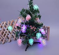 abordables -3m 20leds cône de pin fleur fée guirlande lumineuse décoration de noël alimenté par batterie 1.5m 10leds cadeau de noël guirlande lumineuse salon jardin extérieur décoration d'arbre de noël sans piles