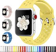 abordables -1 pièces Bracelet de Montre  pour Apple  iWatch Bande de sport Silikon Sangle de Poignet pour Apple Watch série SE / 6/5/4/3/2/1