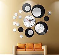 abordables -Nouvelle horloge montre horloges murales 3d bricolage acrylique miroir autocollants décoration de la maison salon aiguille de quartz mur muet horloge