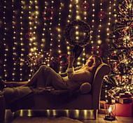 economico -led fuochi d'artificio luci stringa 3 m * 3 m 300 led 1x13 tasti telecomando 2 pz 1 pz bianco caldo natale capodanno impermeabile esterno alimentato usb