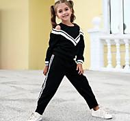 economico -Bambino Da ragazza Completo Monocolore Manica lunga Nero Attivo Essenziale Standard Standard