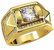 abordables --Bague de fiançailles de mariage pour hommes remplie d'or 18 carats R245 (15)