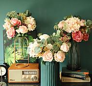 economico -festa di nozze fiori artificiali decorazioni fiori da sposa fiori di simulazione display 1 bouquet 15 * 36 cm