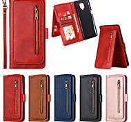 economico -telefono Custodia Per Xiaomi Integrale Custodia in pelle Porta carte di credito Redmi Note 9 Redmi Note 9 Pro Redmi Note 9S A portafoglio Porta-carte di credito Resistente agli urti Tinta unica pelle
