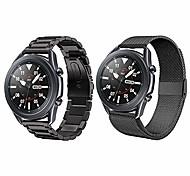 economico -compatibile con samsung galaxy watch 3 cinturini da 45 mm, 2 cinturini in metallo in acciaio inossidabile da 22 mm + cinturino in maglia sport loop per orologio galassia 3 cinturini 45 mm uomo donna /