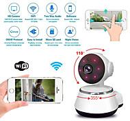 economico -V2 1 mp Videocamera IP Al Coperto Supporto 64 GB / PTZ / Senza filo / Fisso / Taglio IR / Configurazione protetta Wi-Fi