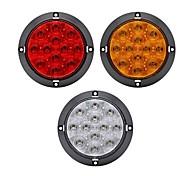 economico -2 pz 4w abs alloggiamento 12 led lenti trasparenti rosso 4 pollici rotondo freno stop camion fanale posteriore