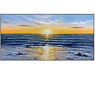 abordables -Peinture à l'huile Hang-peint Peint à la main Panoramique horizontal Abstrait Moderne Rideau (sans cadre)