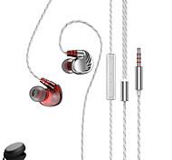 """economico -D3+ Auricolari in-ear cablato """"Jack audio da 3,5 mm"""" Dotato di microfono Con il controllo del volume sweatproof per Apple Samsung Huawei Xiaomi MI Sport Fitness"""