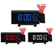 abordables -TS-5210 projection LED réveil nouvelle horloge numérique créative avec radio snooze et minuterie LED affichage de la température radio fm et trois couleurs