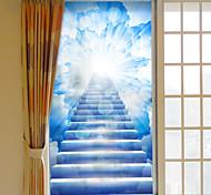 abordables -givré confidentialité nuage échelle modèle fenêtre film maison chambre salle de bains verre fenêtre film autocollants auto-adhésif autocollant