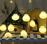 abordables -3m 20leds 1.5m 10leds LED Shell Guirlande Lumineuse Chambre Arbre De Noël Fête Barbecue De Mariage Décoration De Vacances Photo DIY Accessoires Batterie Éclairage Livraison Sans Batteries
