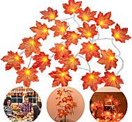 abordables -6pcs 4pcs LED feuilles d'érable guirlande lumineuse 3m 20 LED érables guirlande de fées guirlande lumineuse pour la maison extérieure Thanksgiving automne fête décoration de vacances