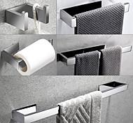 economico -set di accessori hardware da bagno autoadesivo in acciaio inossidabile 304 include gancio per accappatoio, portasciugamani, portasciugamani e porta carta igienica argento 1 o 3 o 4 pezzi