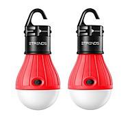 economico -Lampadina da campeggio con tenda a lanterna a LED compatta da 2 pezzi per campeggio, escursionismo, pesca, luci di emergenza, lampada portatile a batteria, rosso (batterie non incluse)