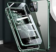 economico -telefono Custodia Per Apple Integrale Custodia flip iPhone 12 Pro Max 11 SE 2020 X XR XS Max 8 7 Con chiusura magnetica A calamita Protezione per obiettivo della fotocamera Tinta unica Vetro