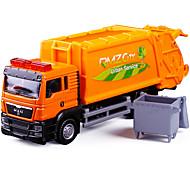 abordables -1:64 Alliage Camion porte-conteneurs Véhicule de construction de camion jouet Jouet de voiture de transport Simulation Musique et Lumière Tous Enfants Adultes Jouets de voiture