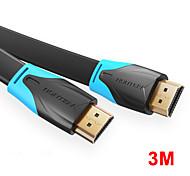 economico -vention cavo compatibile da hdmi a hdmi compatibile cavo piatto hdmi 2.0 da maschio a maschio 4k*2k 18gbps supporta ethernet 3d video 4k per hdtv ps3/4 3m