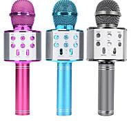 economico -microfono integrato microfono portatile bluetooth karaoke microfono wireless professionale altoparlante home ktv microfono palmare