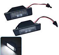 abordables -2 pièces 2W 12V 6500K 18LED éclairage de plaque d'immatriculation pour Nissan Qashqai Pathfinder R51 Primera P12 X-Trail