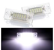 abordables -2pcs 4w 12v 6500k 18smd led arrière numéro de plaque d'immatriculation lumière lampe pour skoda passat caddy