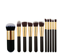 abordables -10 pcs / 11 pcs pinceau de maquillage grande version ensemble de pinceaux de maquillage 5 grands 5 petits pinceaux de maquillage xiaopangdun fond de teint brosse