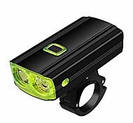 abordables -feu avant de vélo - éclairage de vélo rechargeable par usb - feu avant de vélo à 5 modes d'éclairage LED t6 avec klaxon (6 modes), IPX65 étanche, 7-20 jours livrés (vert)
