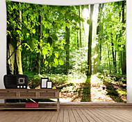 economico -vecchio albero foresta soleggiata arazzo stampato digitale decorazioni da parete a tema classico 100% poliestere decorazione di arazzi da parete contemporanei