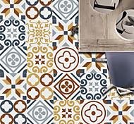 economico -1pc 20 pezzi di nuove piastrelle retrò piastrelle piastrelle fai da te adesivi murali decorativi splicing liberi adesivi murali commercio estero all'ingrosso 20 pezzi 10 * 10 cm