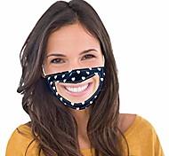 abordables -1 pièces femmes adultes homme sourire communicateur visage transparent couvrant avec fenêtre claire langue des lèvres expression visible