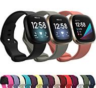 abordables -1 pièces Bracelet de Montre  pour Fitbit Bande de sport Acier Inoxydable Silikon Sangle de Poignet pour Fitbit Versa 2