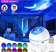 abordables -USB LED étoile lune veilleuse colorée galaxie projecteur de lumière océan nébuleuse lampe contrôle de la musique pour les enfants cadeaux de noël nouvel an
