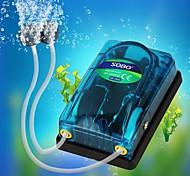 economico -compressore d'aria pompa d'aria dell'acquario sobo per acquario silenzioso controllo dell'aria silenzioso accessori per pesci d'acquario presa doppia / singola