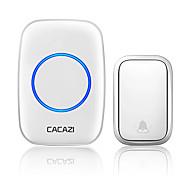 economico -cacazi campanello senza fili autoalimentato impermeabile 150 telecomando nessuna batteria richiesta cancello per campanello per casa intelligente