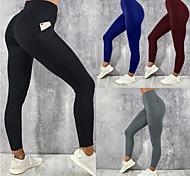 abordables -Femme Collant Running Pantalon de Compression Plein Air Collants Legging Bas avec poche téléphone Hiver Fitness Exercice Physique Course Running Jogging Entraînement Respirable Séchage rapide Doux