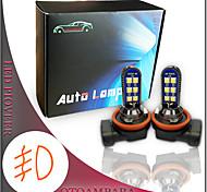 abordables -1 paire de voiture LED antibrouillard H11 H9 12W couleur rose 3ème génération source de lumière double côtés légèreté modèles de voiture universels LED ampoule antibrouillard H8