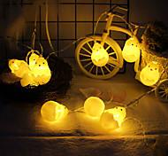 abordables -3m 20leds 1.5m 10leds créative éclosion poussin guirlande lumineuse décoration de pâques Halloween décoration de chambre d'enfants lumières livraison sans piles