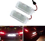 abordables -2 pcs 2 W 12 V 6500 K Blanc Canbus LED Numéro Plaque D'immatriculation Lampe Pour Ford Focus Mondeo Fiseta Kuga