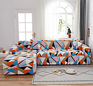 abordables -Housse de canapé géométrique 1 pièce housse de canapé protecteur de meuble housse de canapé extensible doux tissu jacquard spandex super fit pour canapé 1 ~ 4 coussin et canapé en forme de l, facile à