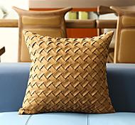 abordables -housse de coussin suède couleur unie tissage doux décoratif carré housse de coussin taie de coussin taie d'oreiller pour canapé chambre 45 x 45 cm (18 x 18 pouces) qualité supérieure lavable en