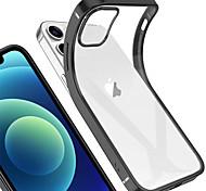 economico -telefono Custodia Per Apple Per retro iPhone 12 Pro Max 11 SE 2020 X XR XS Max Placcato Tinta unica TPU