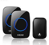economico -cacazi home campanello senza fili autoalimentato senza batteria 60 campanelli 5 volume 0-110 db campanello per porta intelligente