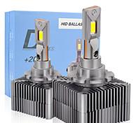 abordables -1set D1S D2S D3S D4S D5S D8S Ampoule de phare de voiture 20000lm 45W Canbus Aucune erreur Série D Lumières 6000K Blanc Auto LED Headlamp12V