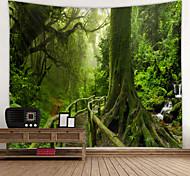 economico -vecchio sentiero di legno con muschio stampa digitale arazzo decorazione da parete tema classico 100% poliestere arte contemporanea parete arazzi decorazione