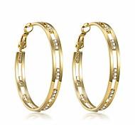 economico -orecchini a cerchio con zirconi per donna - orecchini a cerchio larghi e rotondi in argento sterling 925 placcato oro 14k (oro)