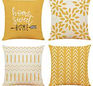 abordables -Housse de coussin 4pc lin doux décoratif carré housse de coussin taie d'oreiller taie d'oreiller pour canapé chambre qualité supérieure