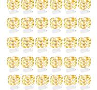 abordables -30 pièces 12 pièces 6 pièces guirlandes à piles (incluses) 600led 240led mini guirlande lumineuse 120led fil de cuivre étanche luciole lumières étoilées pour la fête d'Halloween décorations de