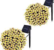 abordables -led solaire extérieur guirlande lumineuse étanche 12m 100leds 7m 50leds 8 modes lampes solaires pour jardins maisons de fête de mariage rideaux de patio extérieur 2 pcs 1 pc