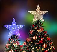 economico -albero di natale top star luci led stringa led decorazione natalizia luci colorate fata festa di nozze vacanza illuminazione colorata decorazione ac220-240v spina ue